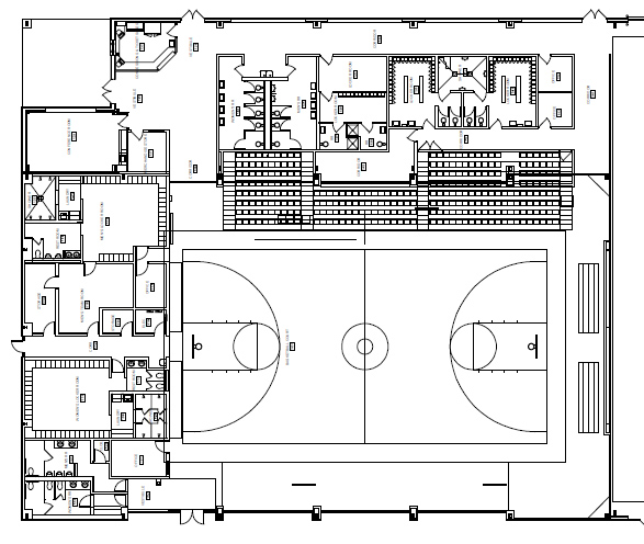 blueprint of Southwell Gym